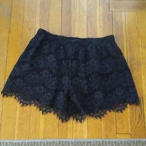 Madewell Broadway and Broome Scallop Lace Shorts
